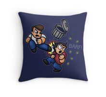 River City Ransom Barf Throw Pillow