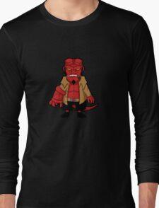 Chibi boy -black- Long Sleeve T-Shirt