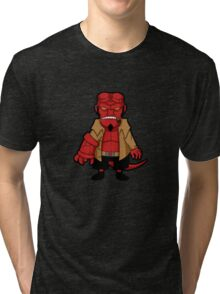 Chibi boy -black- Tri-blend T-Shirt