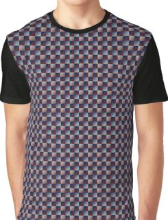 Red/Blue Gradient Checker Graphic T-Shirt