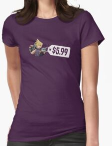 Smash Bros Cloud $5.99 Womens Fitted T-Shirt