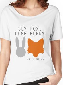 Sly Fox, Dumb Bunny - Nick Wilde Women's Relaxed Fit T-Shirt