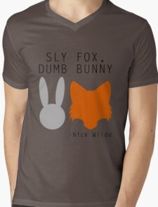Sly Fox, Dumb Bunny - Nick Wilde Mens V-Neck T-Shirt