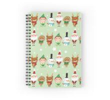 Christmas Crew - Green - Lines Spiral Notebook