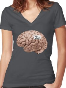 Out of Order Brain Women's Fitted V-Neck T-Shirt
