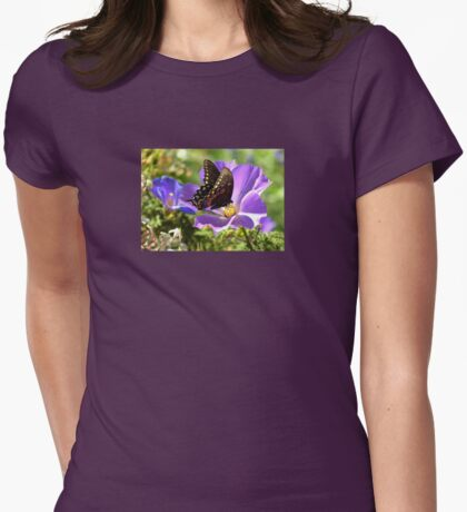 Spicebush Swallowtail Showing It's Colors  Womens Fitted T-Shirt