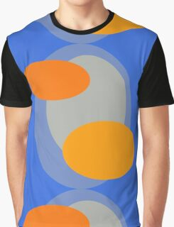 70s style pattern - blue and orange Graphic T-Shirt