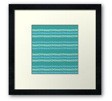 Dotted Lines (Turquoise) Framed Print