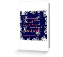 The Kiss of Deception - Shattered (Dark Blue) Greeting Card