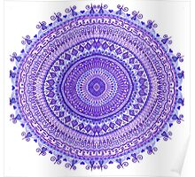 Purple Mandala Poster