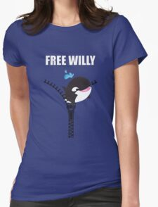 Free Willy Womens Fitted T-Shirt