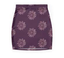 Funky Floral Mauve  Mini Skirt