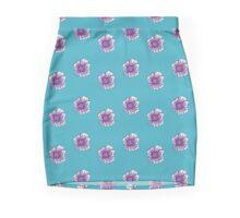 Ditzy Floral Aqua Mini Skirt