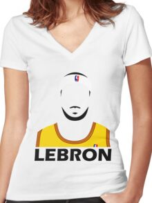 LeBron Abstract Women's Fitted V-Neck T-Shirt