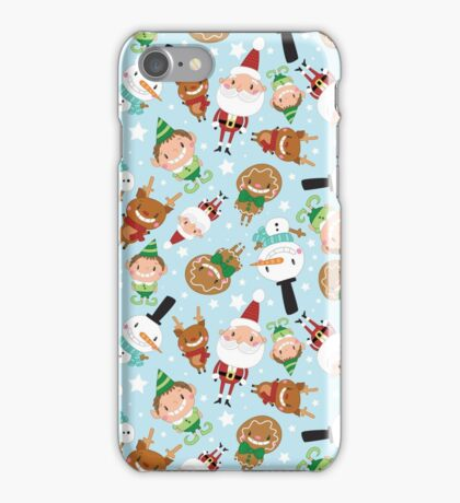 Christmas Crew - Blue - Scattered iPhone Case/Skin