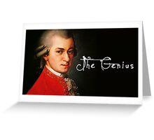 Mozart, the Genius Greeting Card