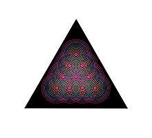 Tetractys - 90 Circle - Diamond Photographic Print