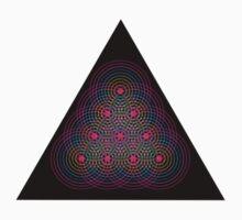 Tetractys - 90 Circle - Diamond Baby Tee