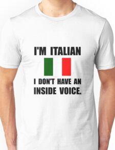 Italian Inside Voice Unisex T-Shirt