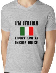 Italian Inside Voice Mens V-Neck T-Shirt