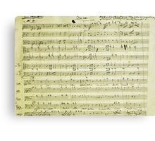 Dies Irae Mozart Canvas Print
