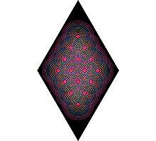 Tetractys - 144 Circle - Diamond Photographic Print