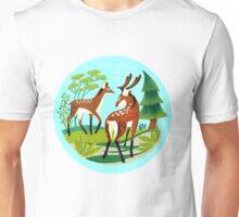 Mid-Century Deer Park Unisex T-Shirt