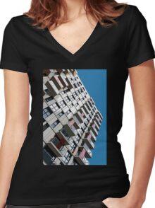 High rise city living Women's Fitted V-Neck T-Shirt