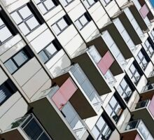High rise city living Sticker
