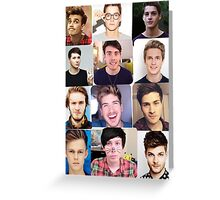 Youtuber boys Greeting Card