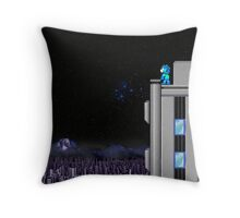 The Blue Bomber's City - Mega Man 2 Throw Pillow