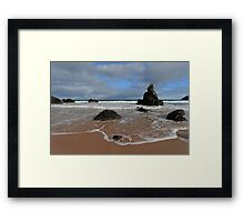Watching The Waves on Sango Bay Framed Print