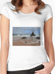 Watching The Waves on Sango Bay Women's Fitted Scoop T-Shirt