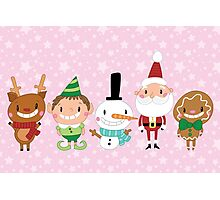 Christmas Crew - Pink - Scattered Photographic Print