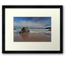 Rock Reflections on Sango Bay Framed Print