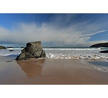 Rock Reflections on Sango Bay Photographic Print