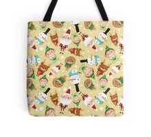 Christmas Crew - Yellow - Scattered Tote Bag
