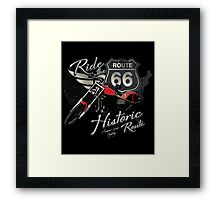 Travel - Motorcycle Ride the historic route 66 Framed Print