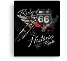 Travel - Motorcycle Ride the historic route 66 Canvas Print