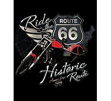 Travel - Motorcycle Ride the historic route 66 Photographic Print