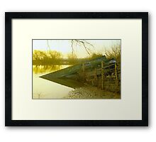 Boat wreck, boat, canal, river, river boat, english countryside Framed Print