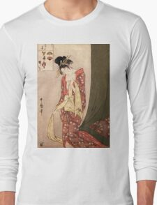 Reproduction Vintage Japanese painting  Long Sleeve T-Shirt