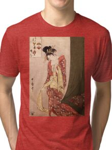 Reproduction Vintage Japanese painting  Tri-blend T-Shirt