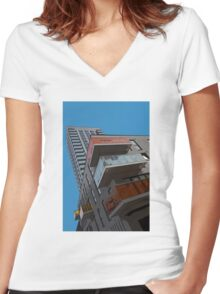 Living the high life! Women's Fitted V-Neck T-Shirt