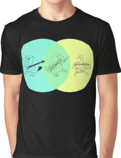 Keytar Platypus Venn Diagram Graphic T-Shirt