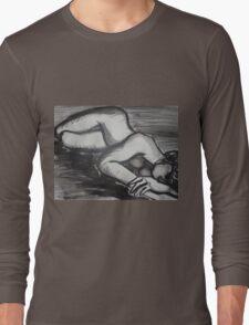 Nostalgic 2 - Female Nude Long Sleeve T-Shirt