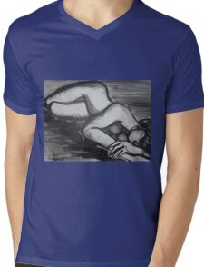 Nostalgic 2 - Female Nude Mens V-Neck T-Shirt