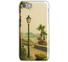 Boardwalk Hawaii, Wakiki, beach, palm trees iPhone Case/Skin
