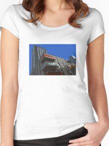 Pop art London Skyline Women's Fitted Scoop T-Shirt