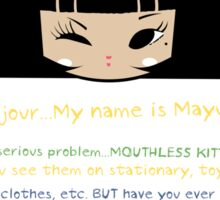 Mouthless Kitty Sticker